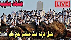 """الحج مباشر الان 🔴 صعود الحجاج على جبل عرفات لبداية ركن الحج الاعظم """"يوم  عرفة"""" - YouTube"""