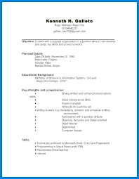 Resume Template For No Work Experience Hotwiresite Com