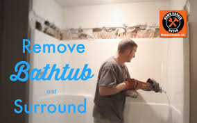 how to remove a fiberglass bathtub and surround by home repair tutor you