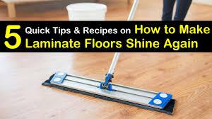 5 quick ways to make laminate floors shine