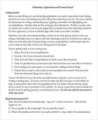 Sample Essay Scholarships Applying For A Scholarship Essay Www Moviemaker Com