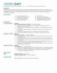 Marketing Resume Template Marketing Resume Template Best Of Sample Resume for Digital 11