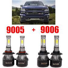 2008 Chevrolet Silverado Fog Light Bulbs Details About 4pcs Headlight Bulbs For Chevrolet Silverado 2500 Hd 2004 2005 2006 2007 2008