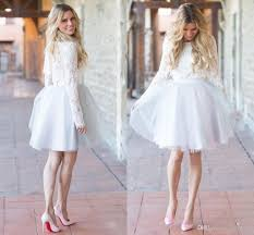 Short Wedding Dresses Long Sleeves