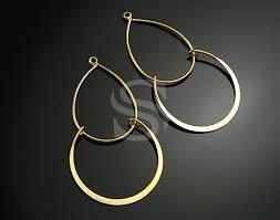 enlarge icon b0007 p g 4 pcs dainty chandelier earring findings brass 24mmx40mm