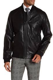 image of michael kors sutton faux leather jacket