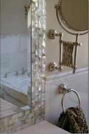 bathroom mirror frame tile. Motherofpearl_mirror_frame Tile Frame To Basic Mirror - Bathroom