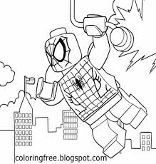 Lego Spiderman Coloring Pages To Print At Getdrawingscom Free For