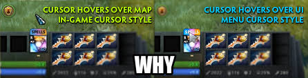 dota 2 but every time you hover over a ui element the cursor style