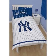 new york yankees childrens kids reversible single duvet cover bedding set utkb798