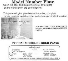 A  Dishwasher Model Number Location_10