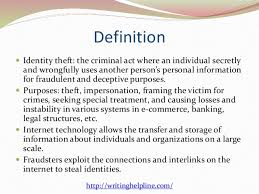 e commerce identity theft  2 definition  identity theft