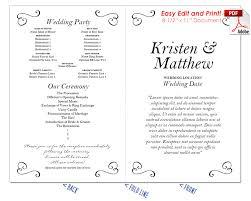 Wedding Program Scroll Border Scrolls 3 Wedding Program Fan Warm Colors