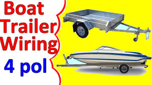 boat trailer wiring diagram 4 pin youtube Four Prong Trailer Wiring Diagram boat trailer wiring diagram 4 pin 4 pin trailer wiring diagram