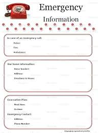 template for emergency contact information phone number list template soulective co