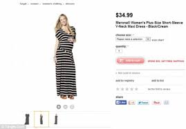 Target Pajamas Size Chart Shoppers Slam Target For Showing Plus Size Dress On