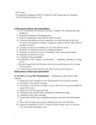 Resume Format For Quality Control Engineer Resume Template Sample