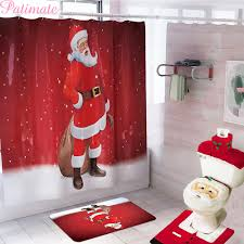 <b>PATIMATE</b> Santa Claus Bathroom Shower Curtain Merry <b>Christmas</b> ...