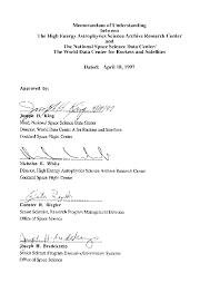 Memorandum Of Understanding Template Cool HEASARCNSSDC Memorandum Of Understanding