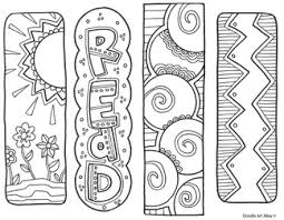 Bookmark Coloring Pages Bookmarks To Color Classroom Doodles