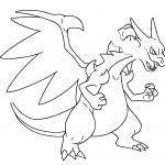 Small Picture Pokemon Coloring Pages Mega Charizard Ex Coloring Page Color