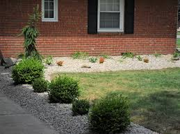 Fascinating River Rock Flower Bed 55 On New Design Room with River Rock  Flower Bed