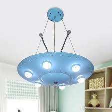 cartoon originality blue flying saucer childrens room children s chandelier