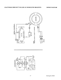 page of craftsman portable generator user guide craftsman 2500 watt deluxe ac generator 580 327270 wiring diagram