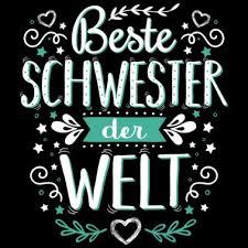 Schwesterherz Weiss Poster Spreadshirt