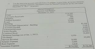 income statement in good form solved use the following accounts and information to prep