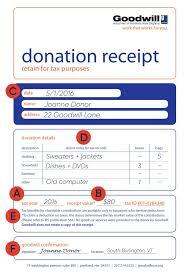 Make Receipts Free Custom How To Fill Out A Goodwill Donation Tax Receipt Goodwill NNE