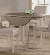 hilale clarion round drop leaf dining table gray white