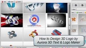 3d logo design by aurora 3d text logo maker