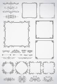素敵すぎる飾り罫フレーム枠のイラストaieps ベクタークラブ