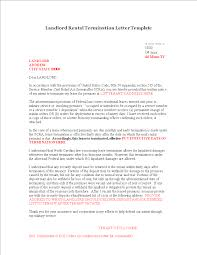 Free Landlord Rental Termination Letter Templates At