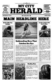 Vintage Newspaper Template Free Free Newspaper Templates Print And Digital Makemynewspaper Com
