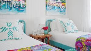 beach style bedroom source bedroom suite. Crisp White Walls Set A Blank Slate For This Colorful Tybee Island Bedroom. The Bright Beach Style Bedroom Source Suite