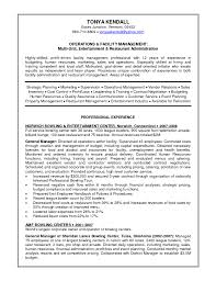 facility management resume format cipanewsletter sample resume for general manager