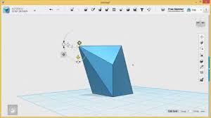 123d Design Basics 123d Design Tutorial Basics 4 6 Faces Edges Vertices