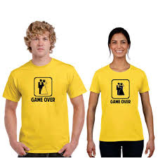 wedding game over couple t shirts housewarming return gifts ideas