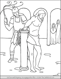 Small Picture Sorrowful Mysteries Coloring Pages The Catholic Kid