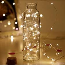 Fairy Lights Battery Operated Canada Led Vase String Light Cork Type Waterproof Button Battery Operated Fairy Lights For Wedding Party Home Diy Decorations Warm White White Canada 2019