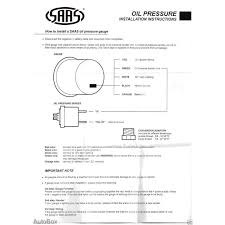 saas 0 140 psi oil pressure 52mm gauge black dial face includes sender  at 2 Wire Oil Psi Sender Wiring Diagram