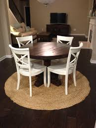 Rustic Round Pedestal Table Custom Farm Table Rustic Kitchen Table