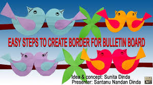 very easy steps to create border for bulletin board in