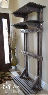 Coat Rack Solutions Remodelaholic Build a Wall Coat Rack with Hooks and Hidden Storage 37