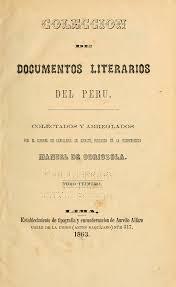 Colección de documentos literarios del Perú : Odriozola, Manuel de,  1804-1889 : Free Download, Borrow, and Streaming : Internet Archive