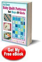 18 best Free eBooks from FaveQuilts.com images on Pinterest ... & 14 Easy Baby Quilt Patterns for Boys and Girls Adamdwight.com