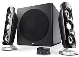 speakers with subwoofer. cyber acoustics 92w powerful computer speakers with subwoofer, a thunderous 2.1 gaming speaker system for subwoofer 7