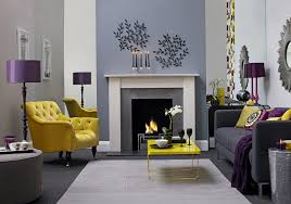 grey and yellow living room bination
